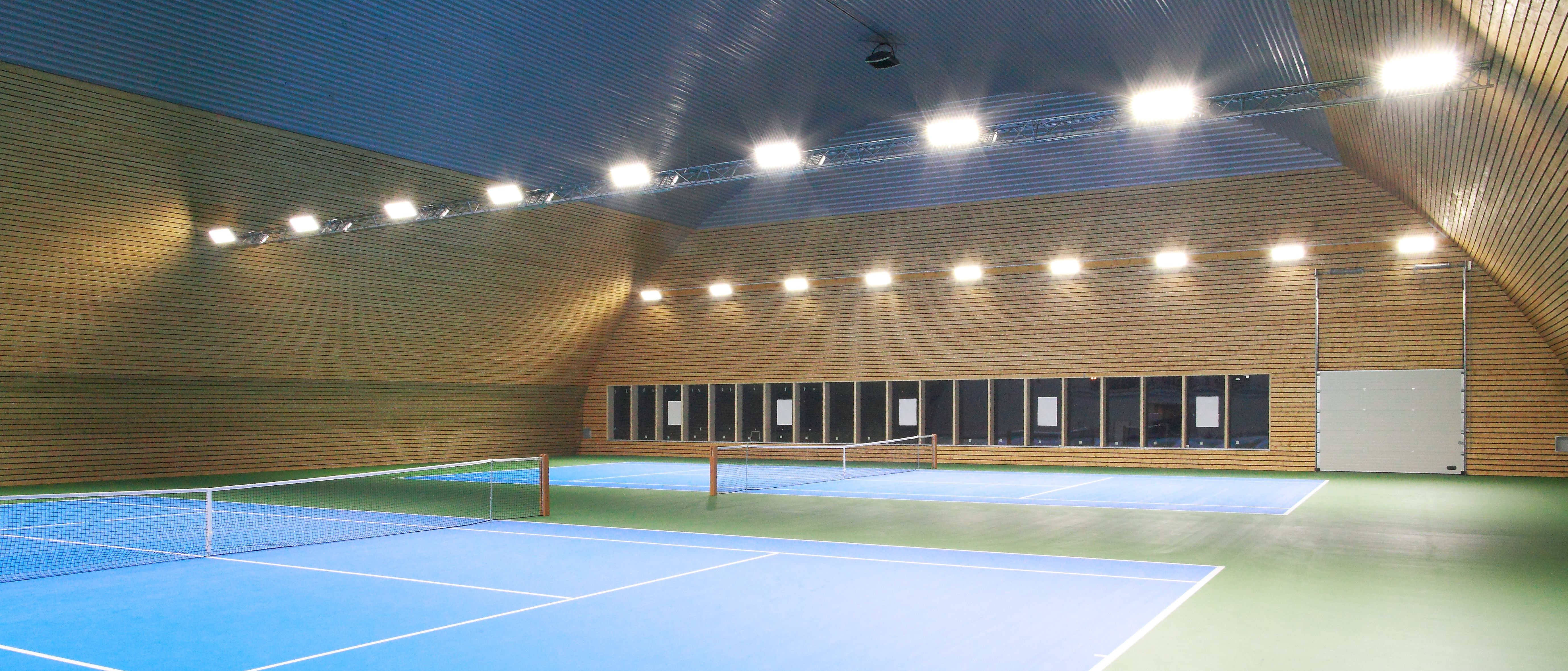 Indoor tennis court LED lighting, 42 pcs Mecree GL-FL-300W