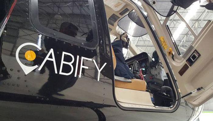 Cabify lanza su servicio de helicópteros para pelear con Uber