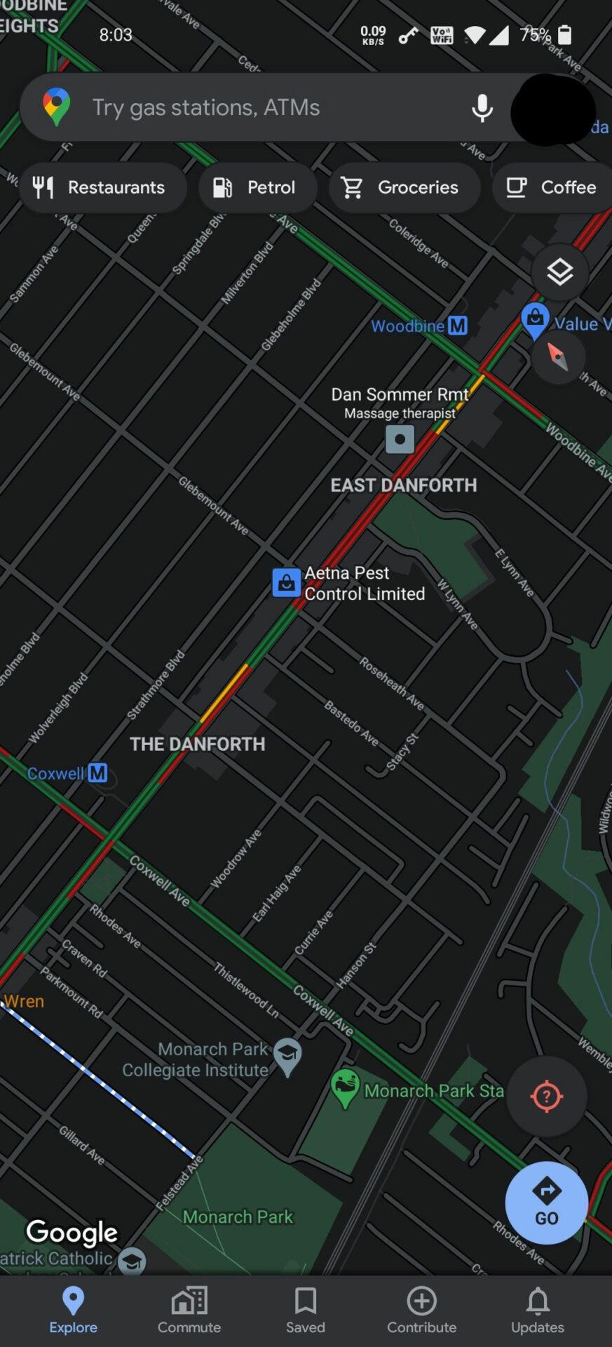 Google Maps Modo Oscuro 1