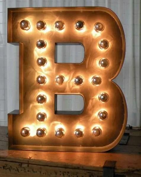 Letterlampen gemaakt door BINK lampen