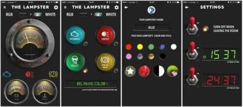 The Lampster APP overzicht 2