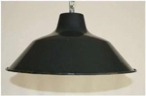 Blauw geemailleerde hanglamp 1