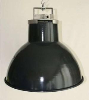 Blauw geemailleerde mazda hanglamp 1