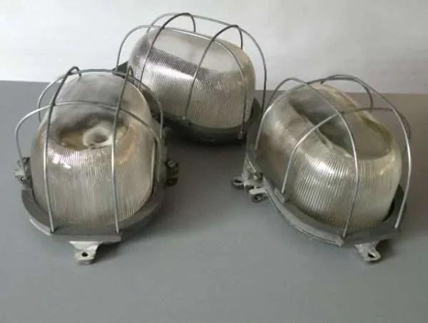 Bunkerlamp drie vintage