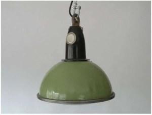 Groen geëmailleerde hanglamp