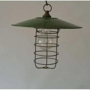 Kooilamp met groen geemailleerde kap 1