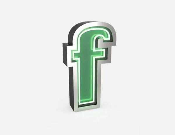 delightfull letterlamp F