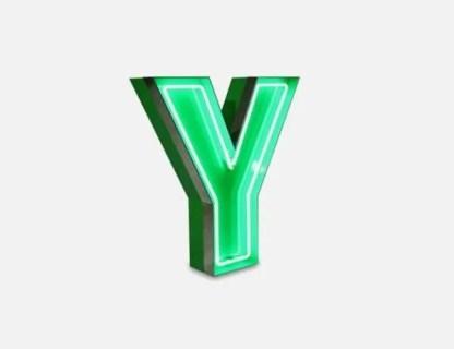 delightfull letterlamp y