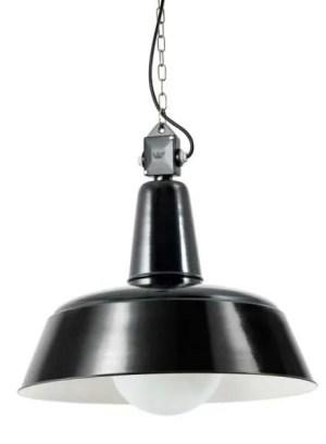 berling bauhaus hanglamp met glazen stolp