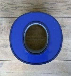 letterlamp blauw 0 front