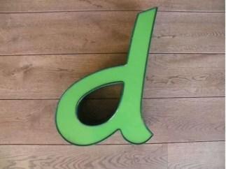 letterlamp groen d 1