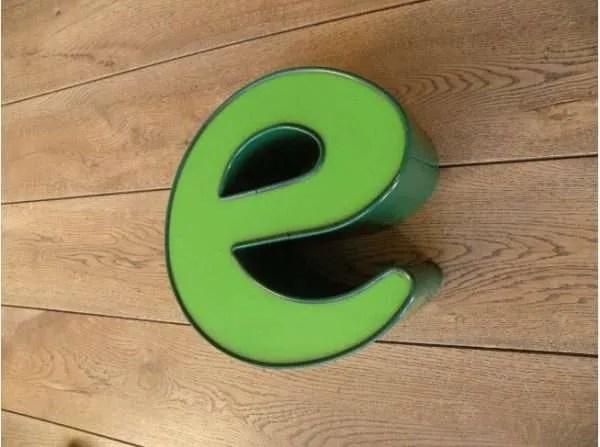 letterlamp groen e 3