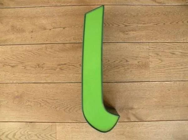 letterlamp groen l 1