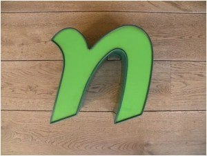 letterlamp groen n 1