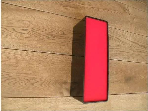 letterlamp zwart rood i 2