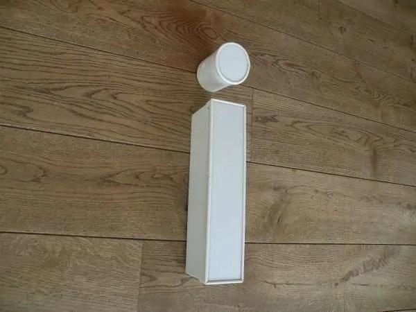 Letterlamp i wit zijkant 2