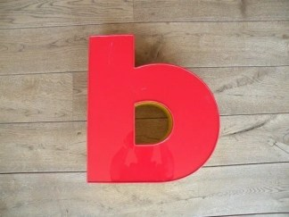 Letterlamp rood geel B