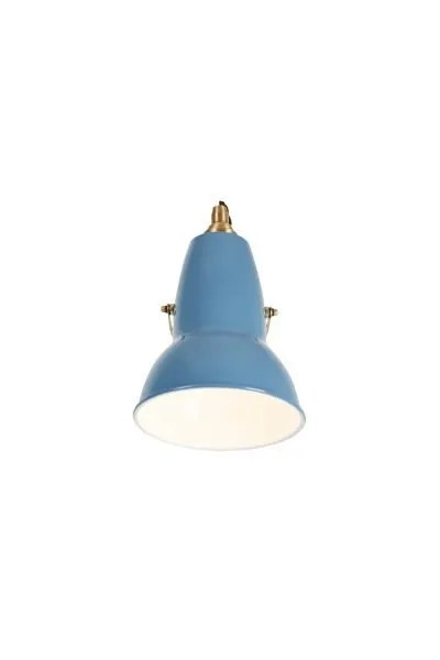 Original 1227 messing wandlamp Light Dusty Blue 3