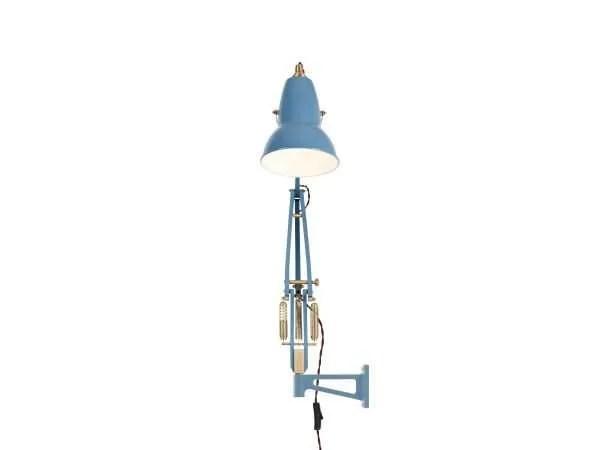 Original 1227 messing wandlamp anglepoise Dusty Blue 3