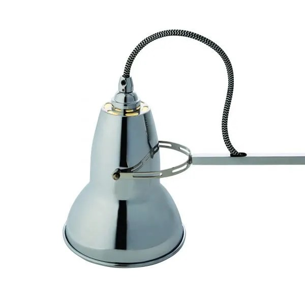 Original 1227 bureaulamp Bright Chrome w BW Cable 7
