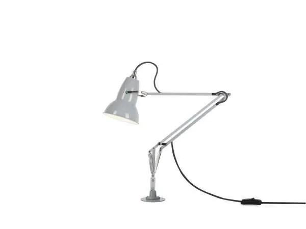Original 1227 bureaulamp grijs met vaste voet 1