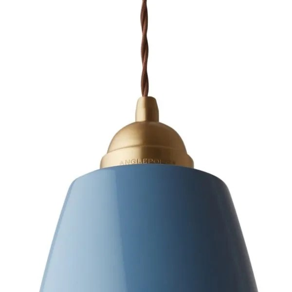 Original 1227 Messing Anglepoise XL Hanglamp - Dusty Blue 2
