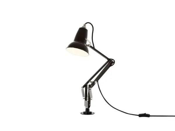 Original 1227 Mini bureau Lamp met vaste bevestiging Jet Black 3 Insert
