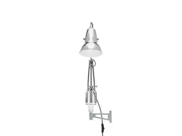 Original 1227 muur Lamp Bright Chrome w BW Cable 3