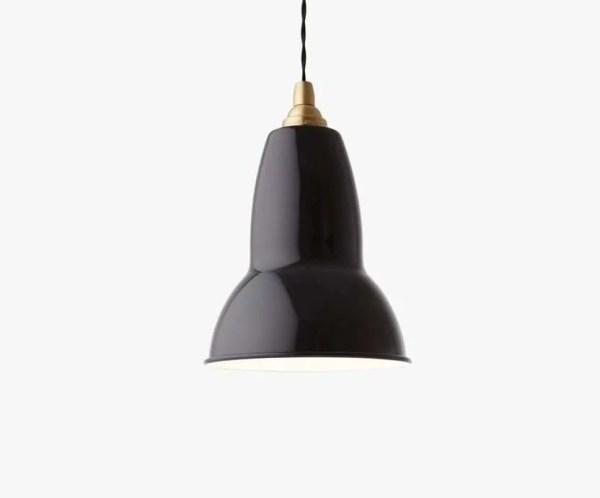 original 1227 brass anglepoise hanglamp jet black 1