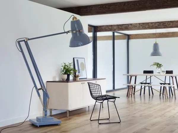 Original-1227-koperen anglepoise-Giant-vloerlamp-hanglamp - Elephant Grey