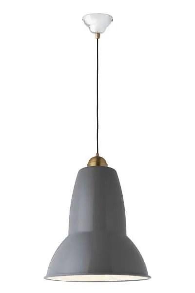 Original 1227 Giant Brass Pendant Elephant Grey