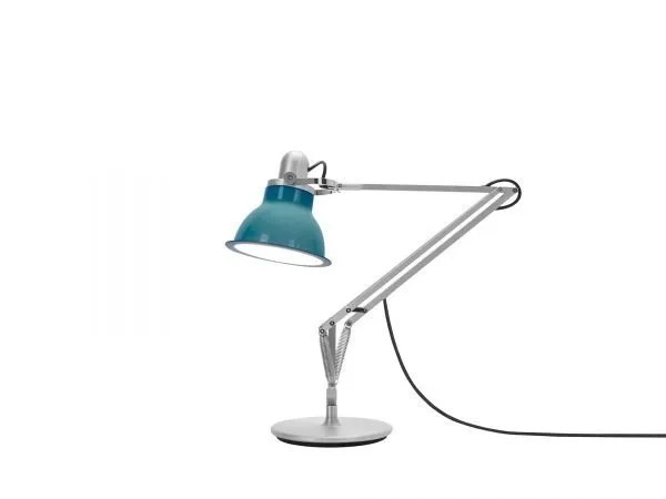 Anglepoise type 1228 Bureaulamp - Ocean Blue 1 On