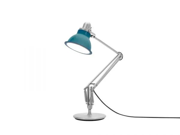 Anglepoise type 1228 Bureaulamp - Ocean Blue 3 On