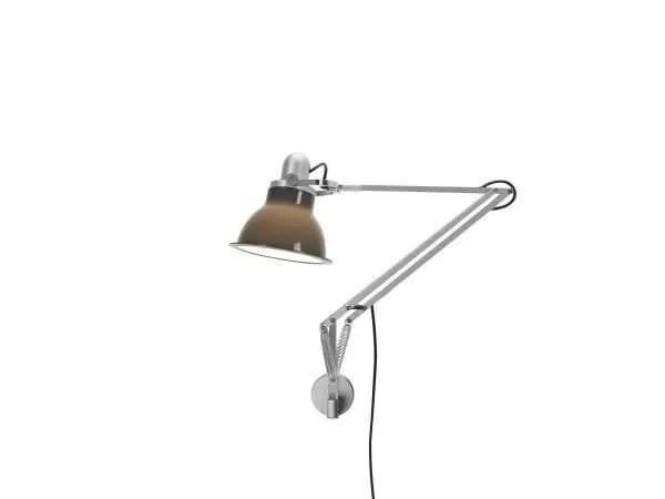 Anglepoise type 1228 wandlamp Granite Grey 1 On