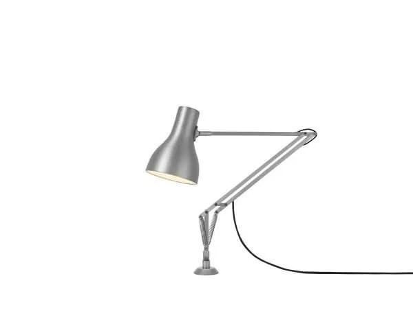 Anglepoise type 75 bureaulamp vaste bevestiging Brushed Aluminium 1