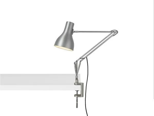 Anglepoise type 75 klemlamp bureaulamp Brushed Aluminium 1