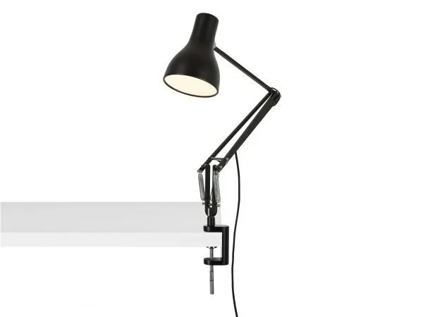Anglepoise type 75 klemlamp bureaulamp Jet Black 3