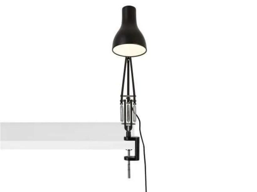 Anglepoise type 75 klemlamp bureaulamp Jet Black 4