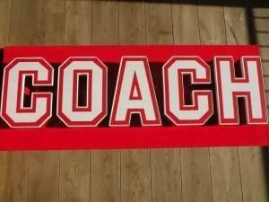 Letterlampen rood wit Coach