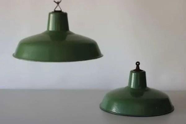 Groen geëmailleerde hanglamp 2.2