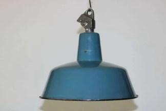 Blauw geëmailleerde hanglamp