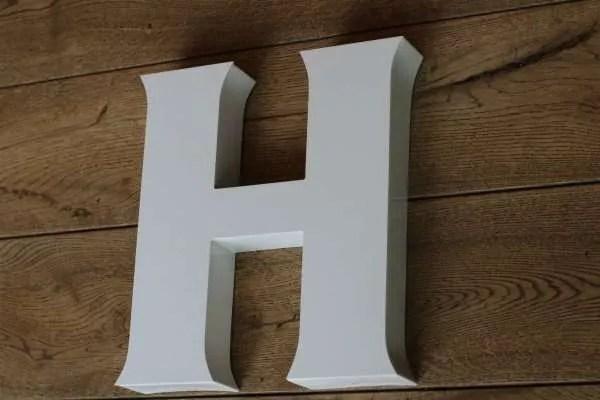 backlit letterlamp H 2