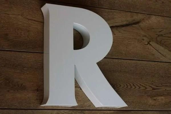 backlit letterlamp R 3