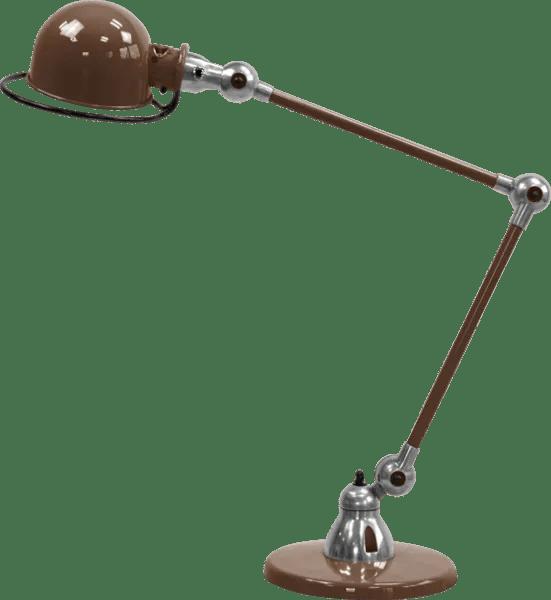 Jielde-Loft-D6440-bureaulamp-duo-Chocolade-RAL-8017