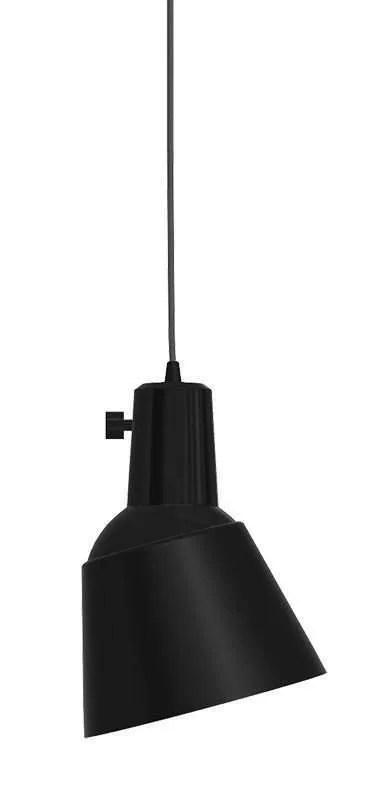 K831 bauhaus verstelbare hanglamp massief aluminium poedercoating zwart