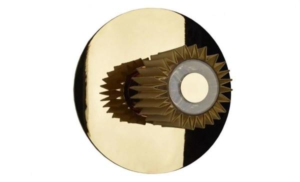 in the sun wandlamp 27 cm goud goud