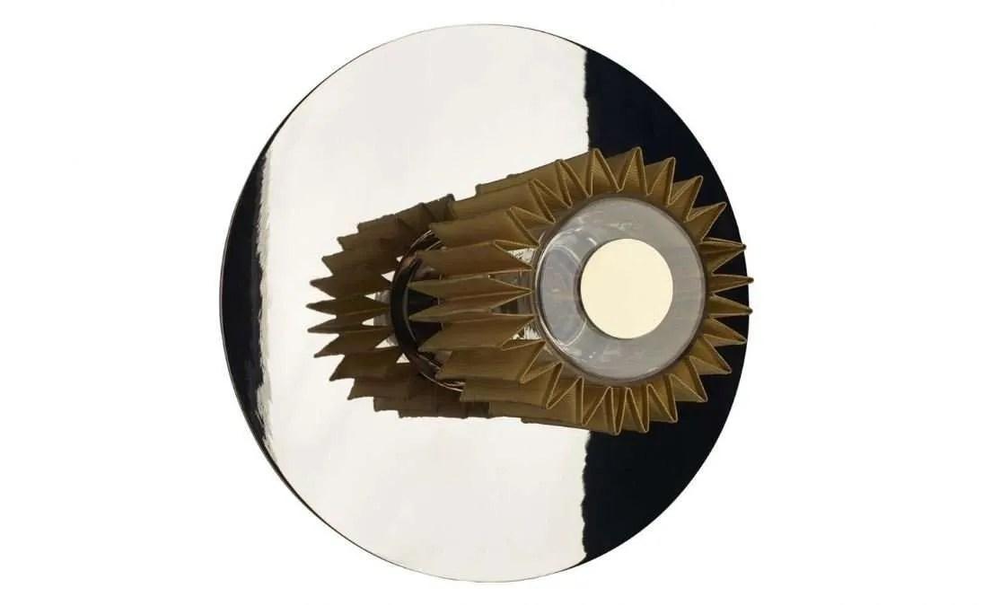 in the sun wandlamp 27 cm zilver goud