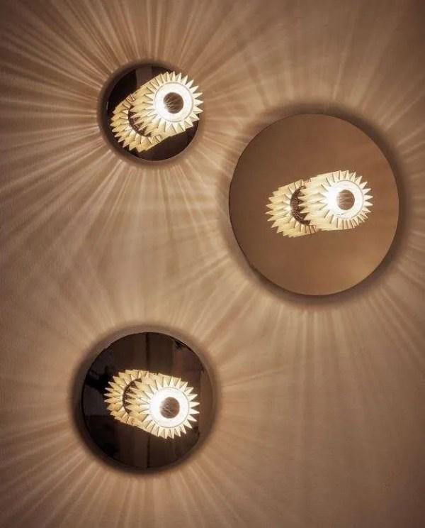 in the sun wandlamp goud goud in situ 2