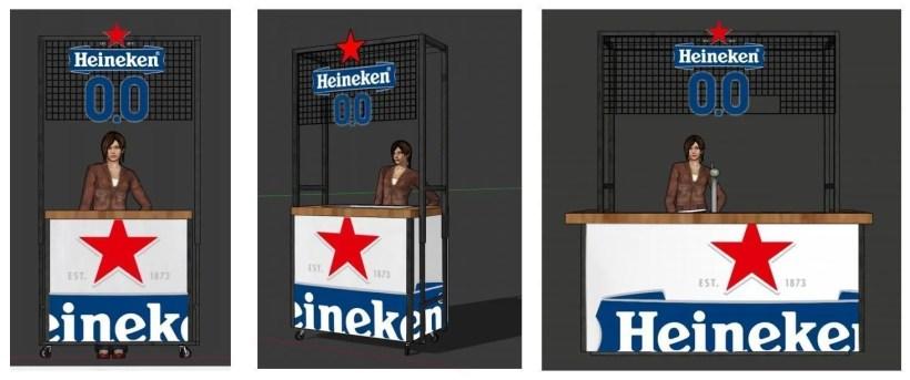 Heineken 0.0 logo beursstand
