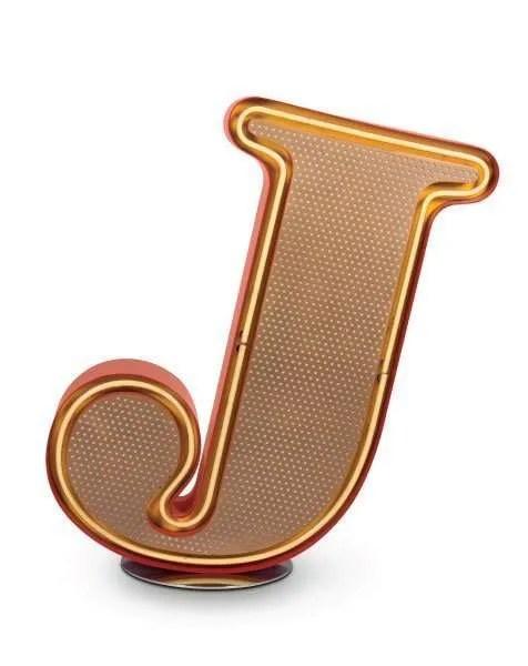 Delightfull letterlamp j front